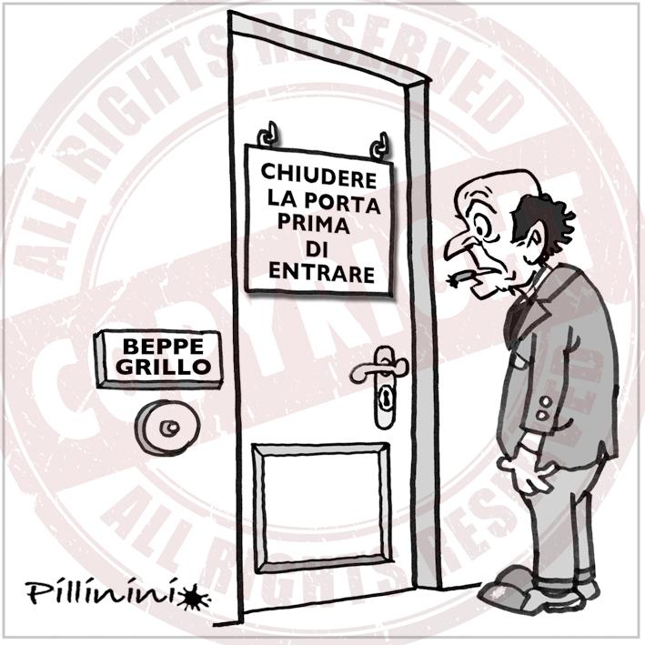 Satira politica grillo bersani - Chiudere la porta grazie ...