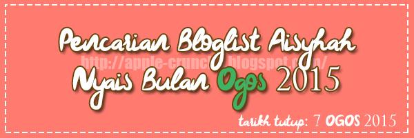 Pencarian Bloglist Aisyhah Nyais Bulan Ogos 2015