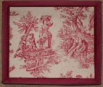 Early 20th century toile-covered box