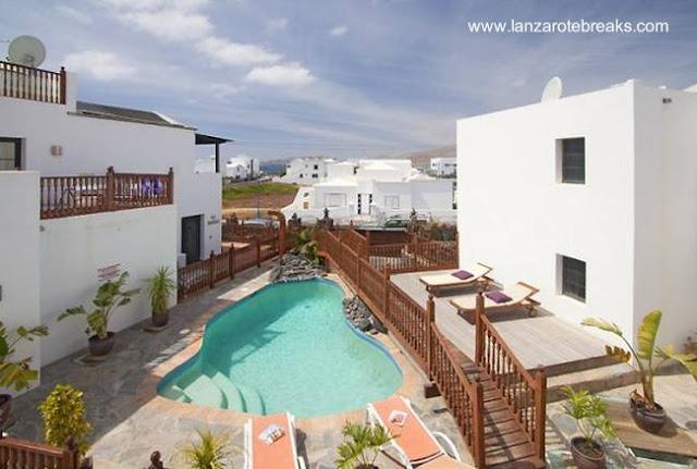 Construcciones turisticas en Lanzarote, España