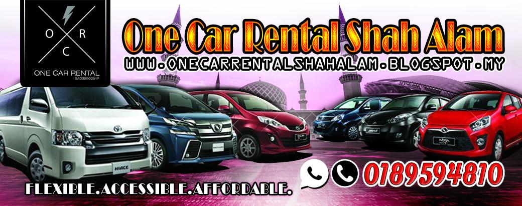 One Car Rental Shah Alam dan Sekitarnya=== #Murah #Jimat #Berbaloi===KLIK SINI