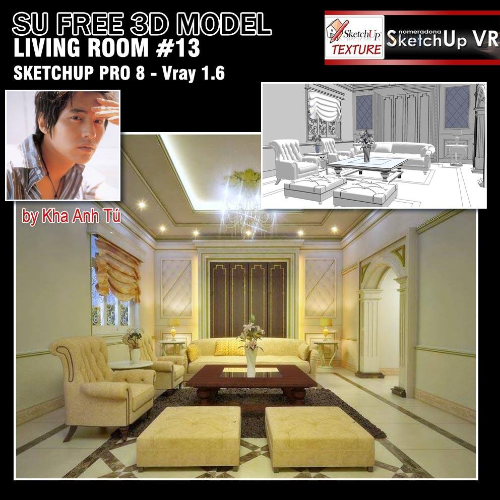 SKETCHUP TEXTURE: FREE SKETCHUP 3D MODEL LIVING ROOM#13