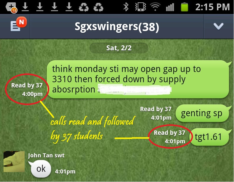 below is the prescient guidance to sgxswingers club chat room on sat 2 ...