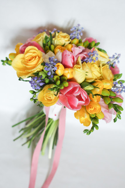 cheerful colour bouquets by Lily Sarah