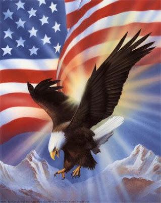 American Flag Waving Eagle
