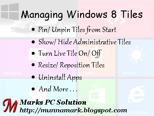 How to Work with Windows 8 Tiles
