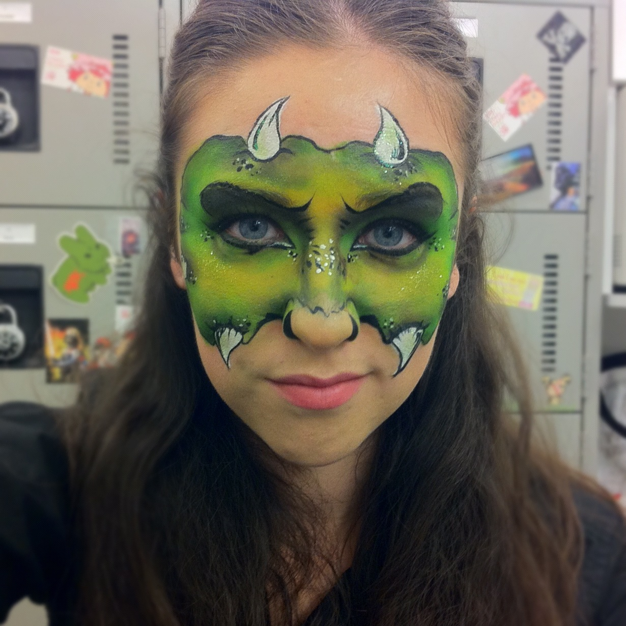 Glossary a beauty blog monster face paint monster face paint heres a halloween face paint i did on myself solutioingenieria Image collections