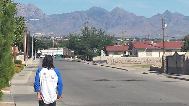 COUSIN ROBERT STROLLS THROUGH LAS CRUCES, NEW MEXICO