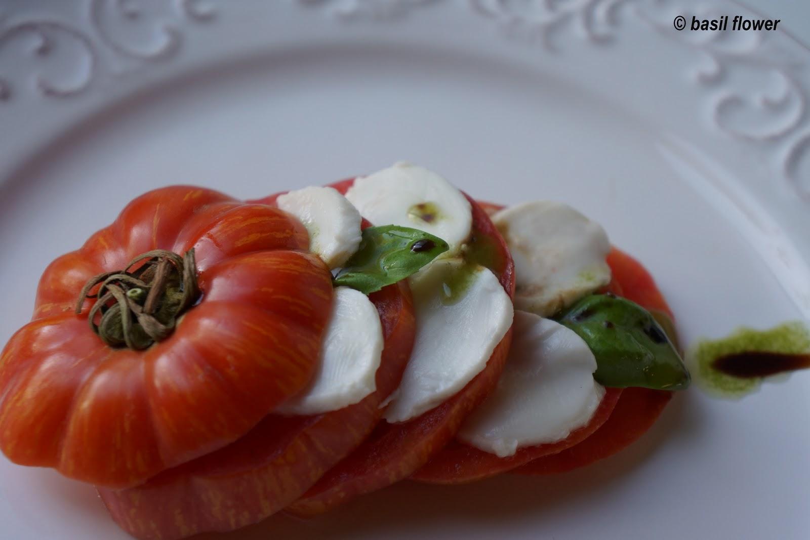 Heirloom Tomato Caprese Salad - BasilFlower.org