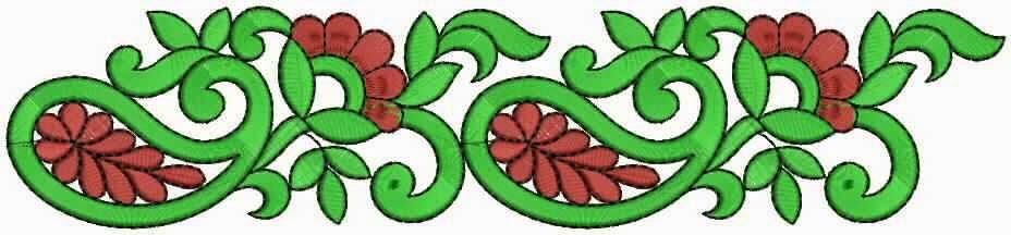 Maroen en groen kleur Kant grens