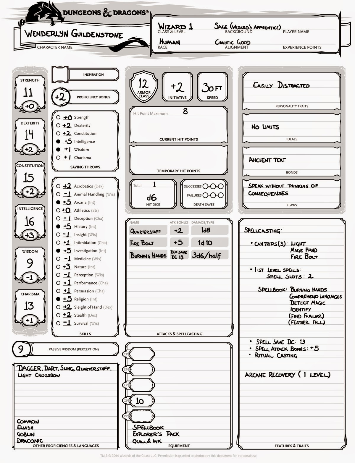 Character Names Index  Kismets Dungeons and Dragons