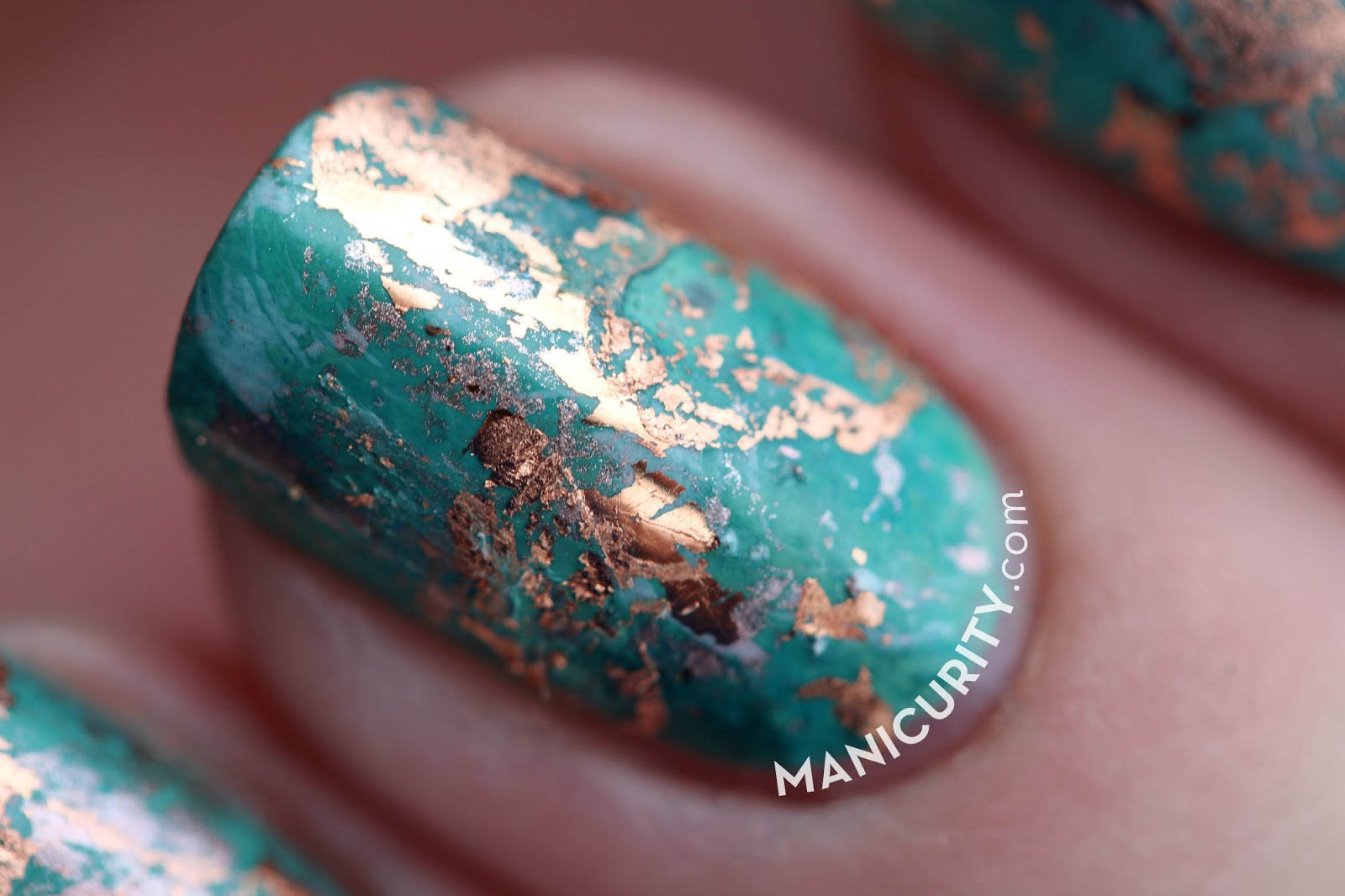 Manicurity the digit al dozen cuprum texture nail art the digit al dozen patina copper nails native cuprum texture nail art with prinsesfo Choice Image