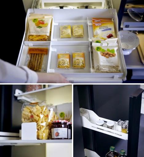 Gambar Desain Rak dan Lemari Dapur Model Gantung Minimalis  4