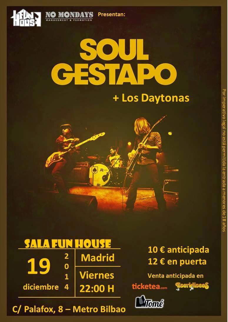 Soul Gestapo + Los Daytonas (19/12/2014)