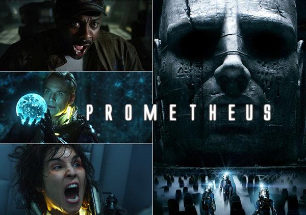 Fotogramas de la película de ciencia ficción Prometheus