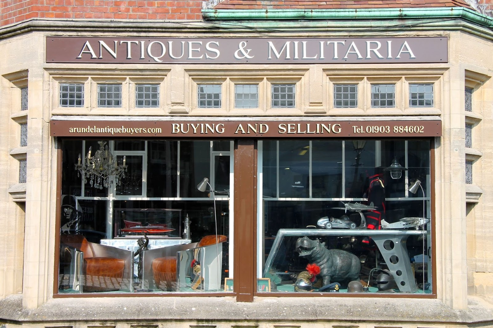 Antiques shop in Arundel