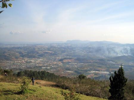 Vista de Dalat desde Lang Biang