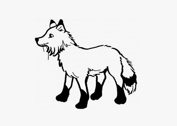 Arctic Fox Coloring Page Free Coloring Pages And Arctic Fox Coloring Page