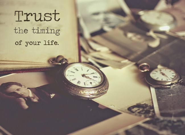Trust the Timing of Your Life Quote | Denise on a Whim