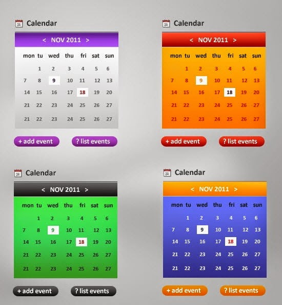 Cell phone calendars