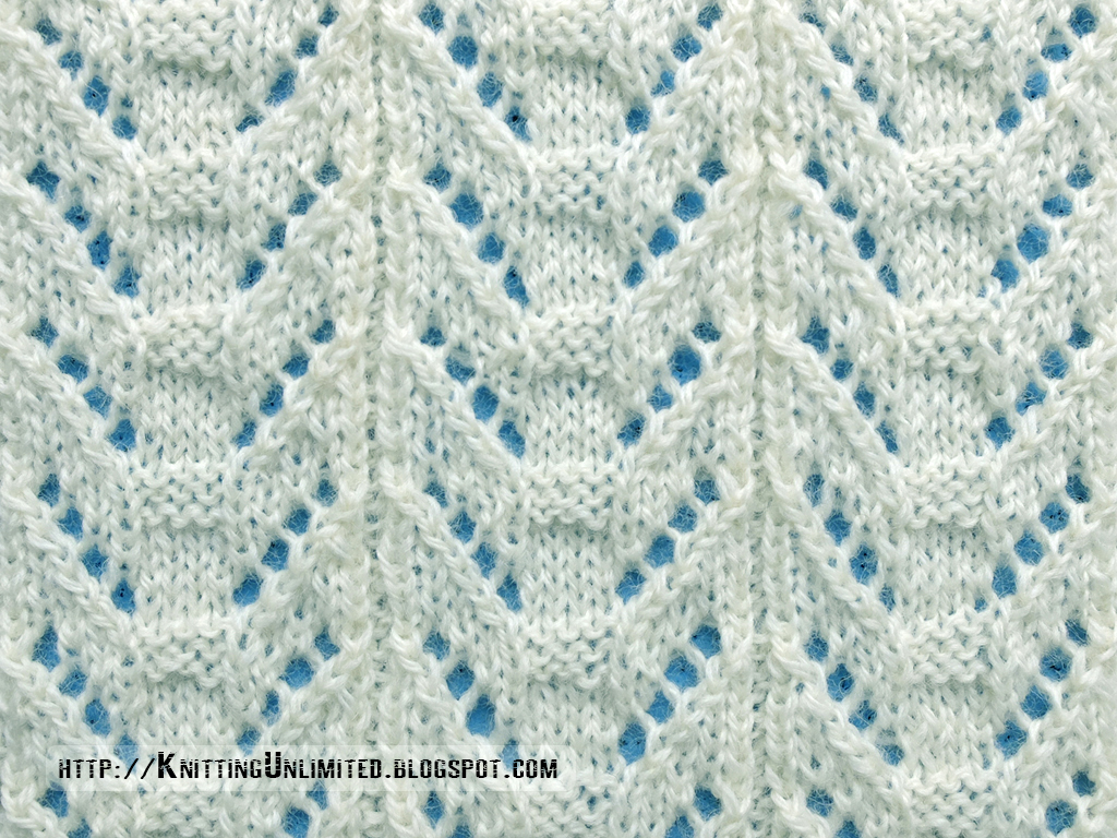 Lace Knitting Stitch Patterns : Lace Stitches for Spring 2016 - Pattern 6/10 - Knitting Unlimited