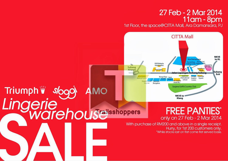 Triumph Lingerie Malaysia Warehouse Sale Bra Citta Mall Petaling Jaya