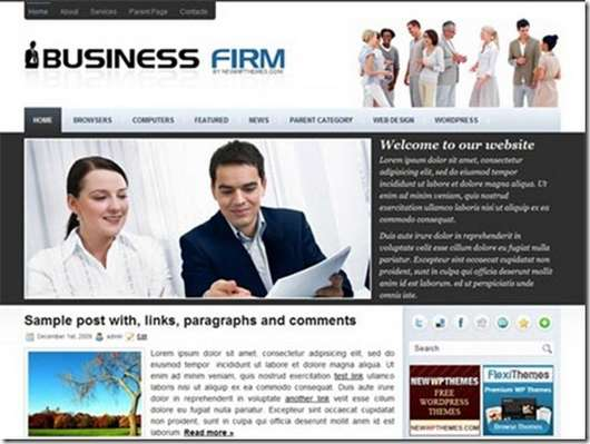 Business Firm Free Premium WordPress theme