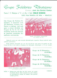 Grupo Folclorico Ribatejano Vila Franca de Xira Cartaz Publicitario 1995