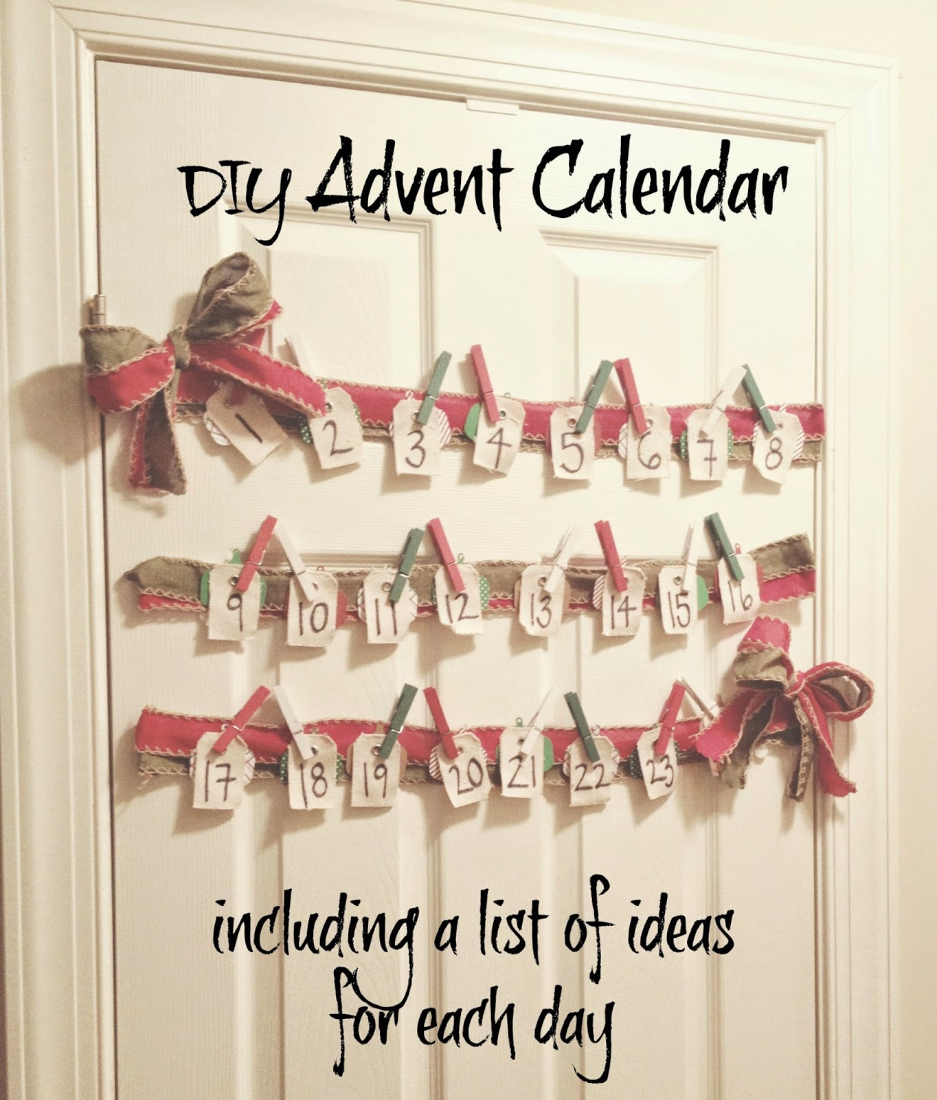 Advent Calendar List Ideas : Dancing with ashley diy advent calendar including a list