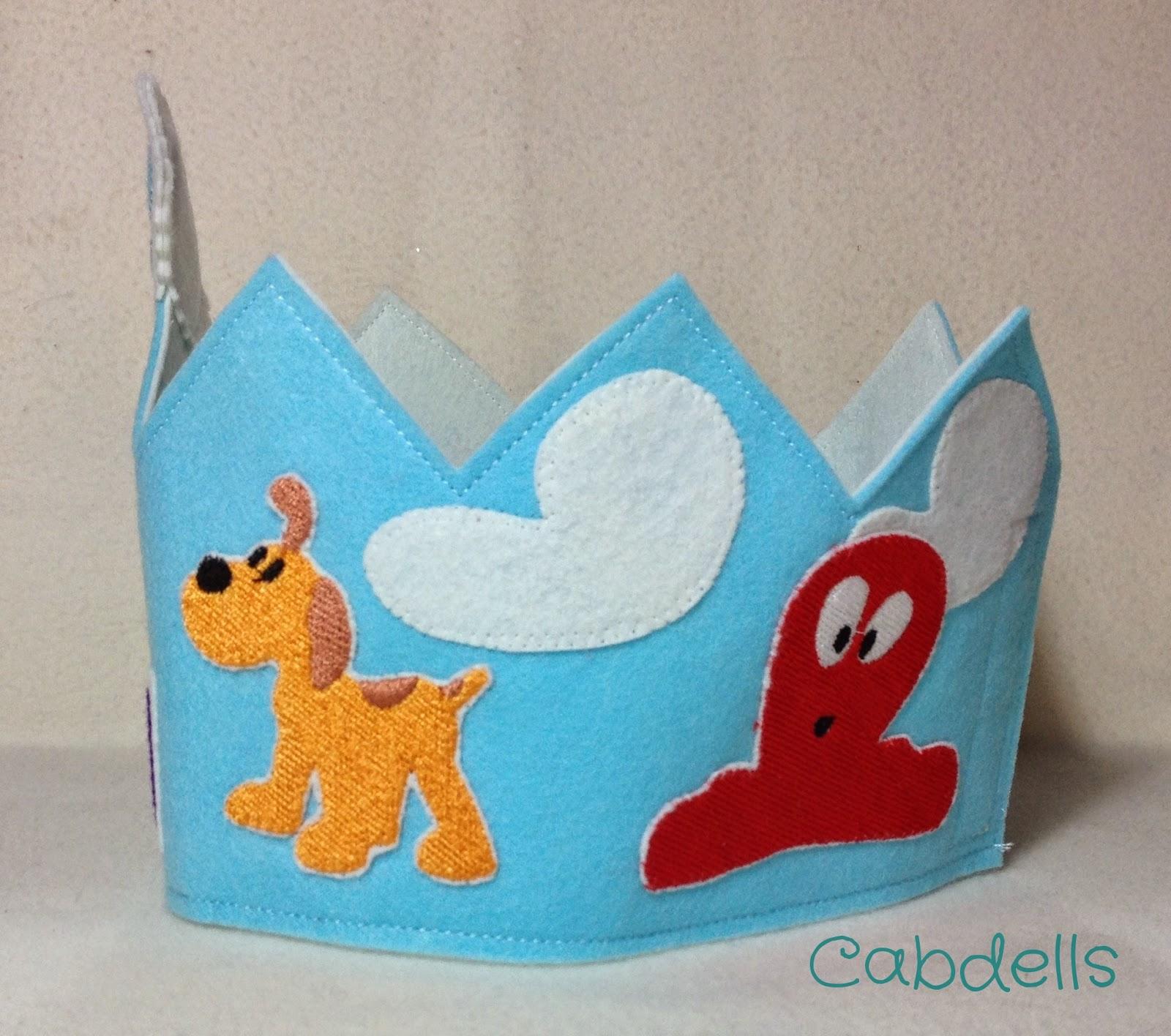 corona cumpleaños pocoyo