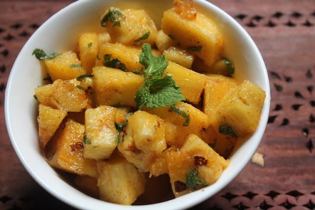Pineapple Chaat Recipe – Pineapple Salad Recipe