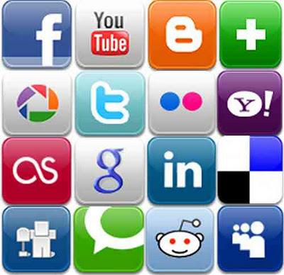 Sociala Media ikoner