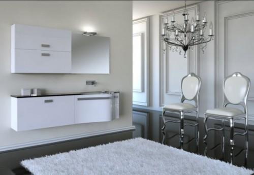Italian bathroom design with dramatic color scheme home for Italian bathroom design