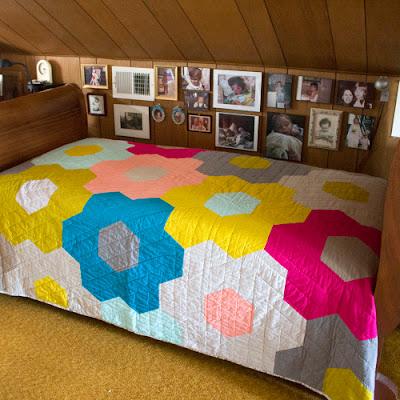 Monsterz Sized Hexagon Quilt