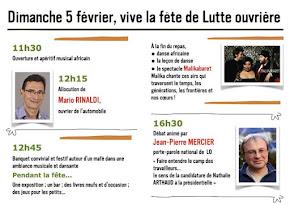 Fête de Lutte Ouvrière à Metz le 5 février 2017