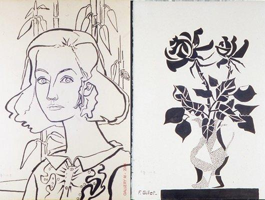 Line Art Graphic Design : Maokyo loves francoise gilot