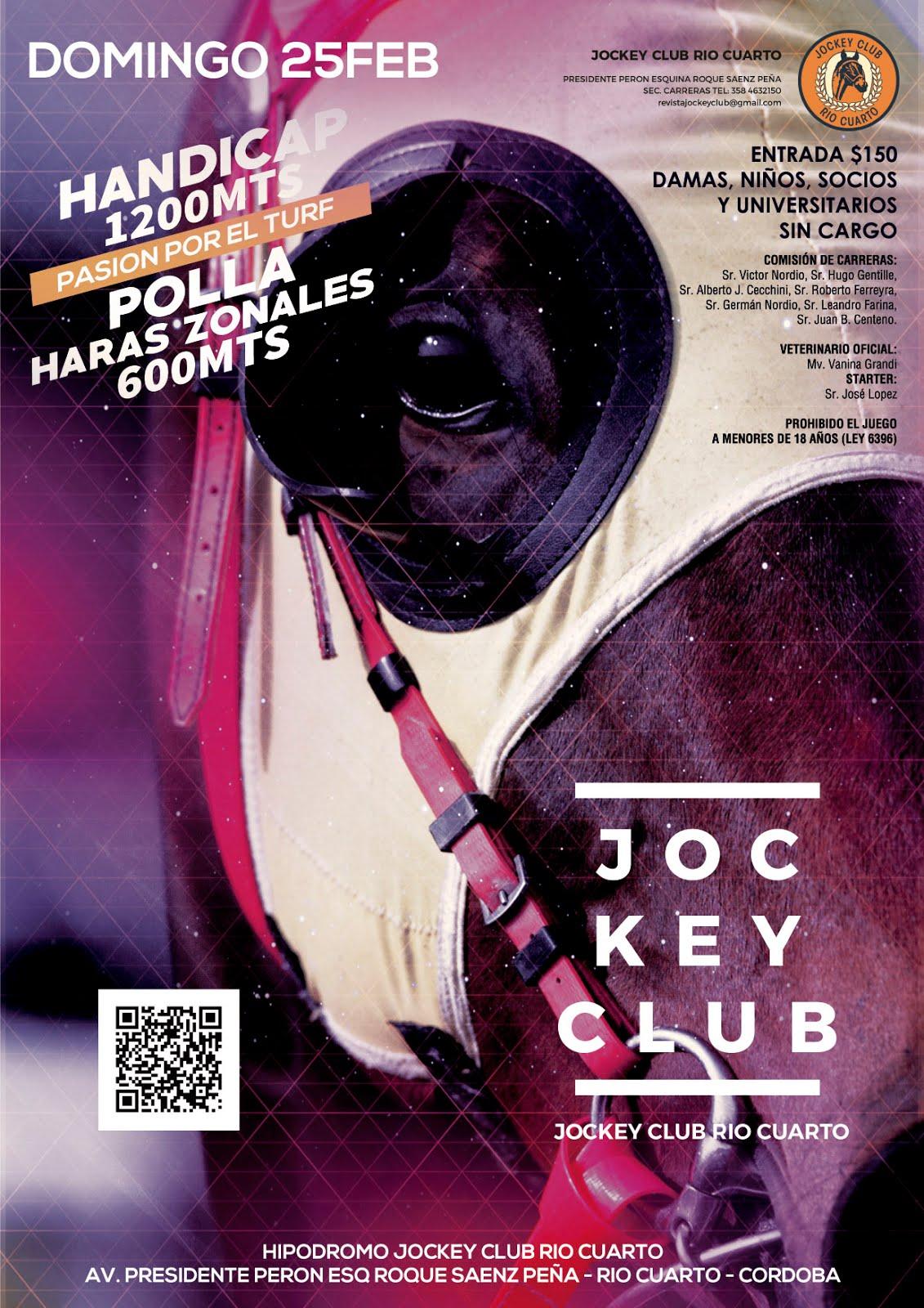 Programa 25 de febrero / Jockey Club Río Cuarto