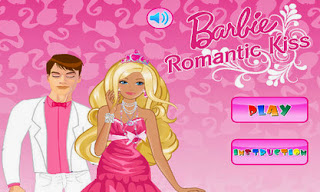 Screenshots of the Barbie Romantic Kiss for Android tablet, phone.
