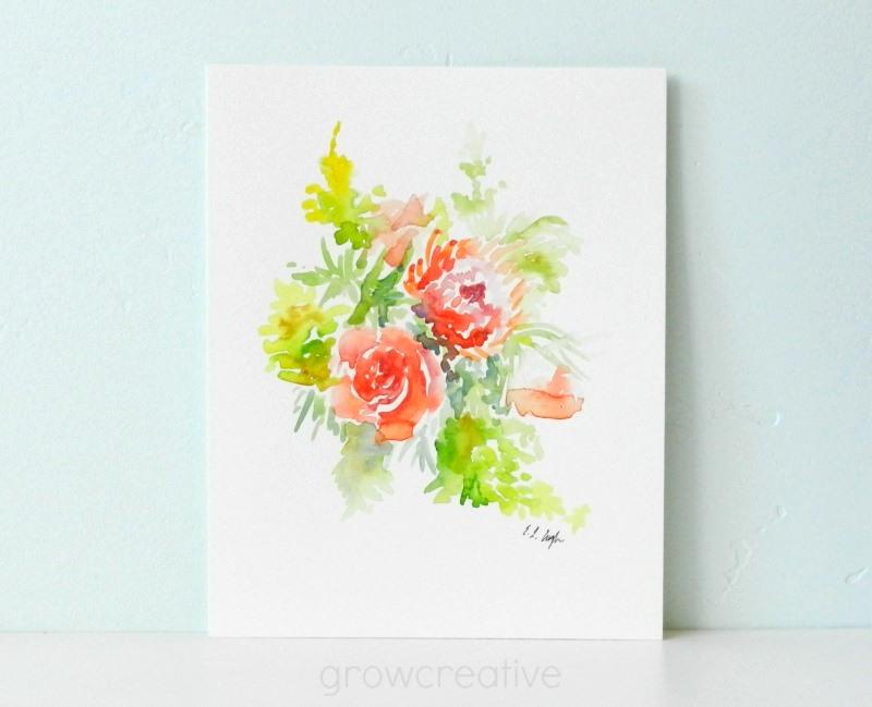 Watercolor Flowers by Elise Engh: Grow Creative