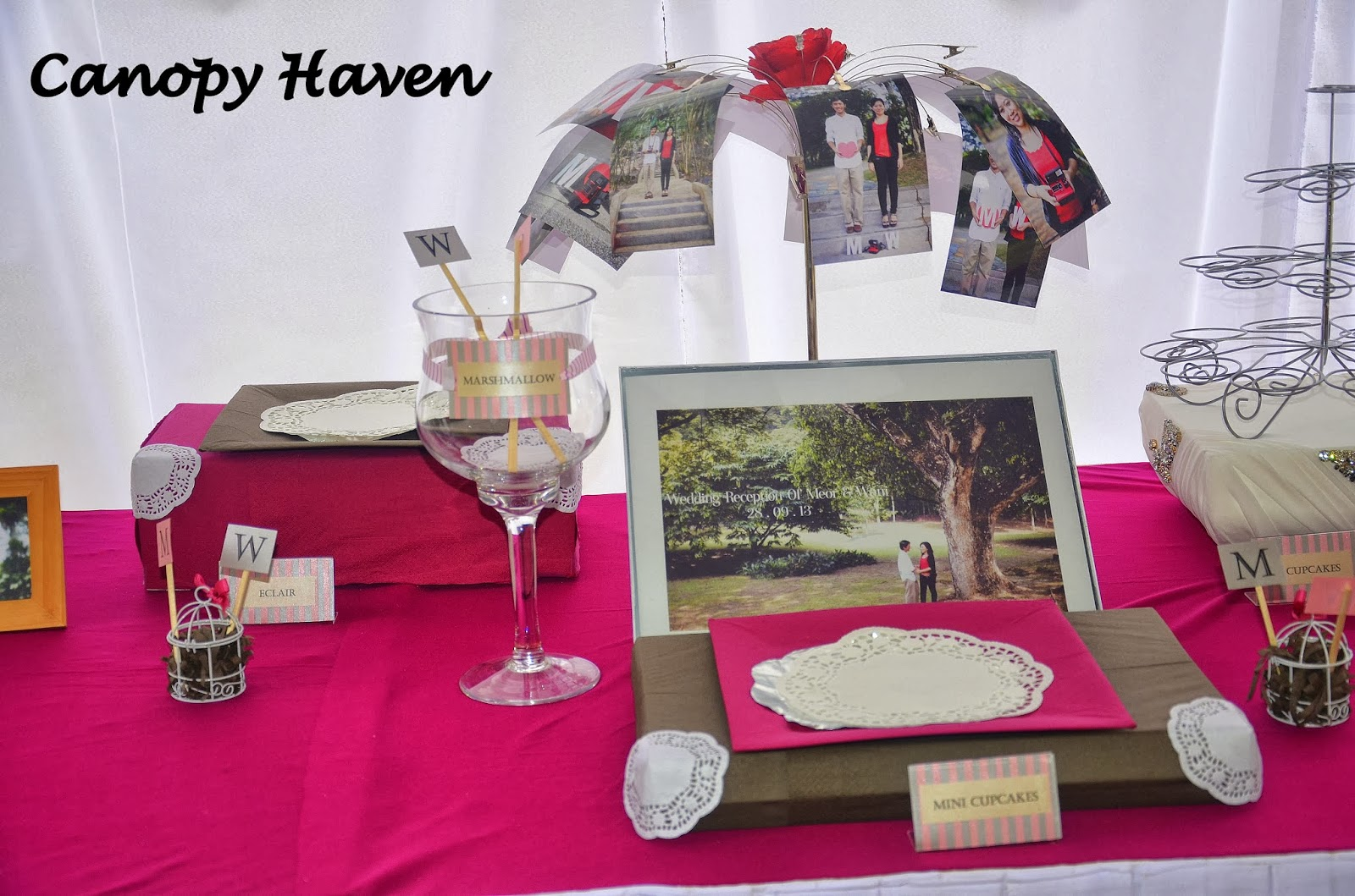 Our latest candy buffet u0026 guestbook setup. Combinations of mauve u0026 grey color with the initials of the bride u0026 groom & CANOPY HAVEN: Candy Buffet u0026 Guestbook Setup !