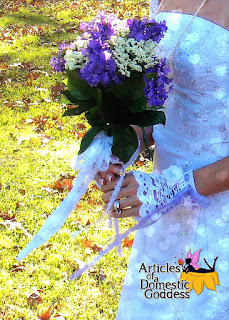Love is in the air Wedding Gloves/Wristlets by Articles of a Domestic Goddess