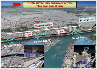 Hình ảnh nhà ga metro số 1 tại Vinhomes Ba Son
