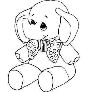 bebe elefante para pintar