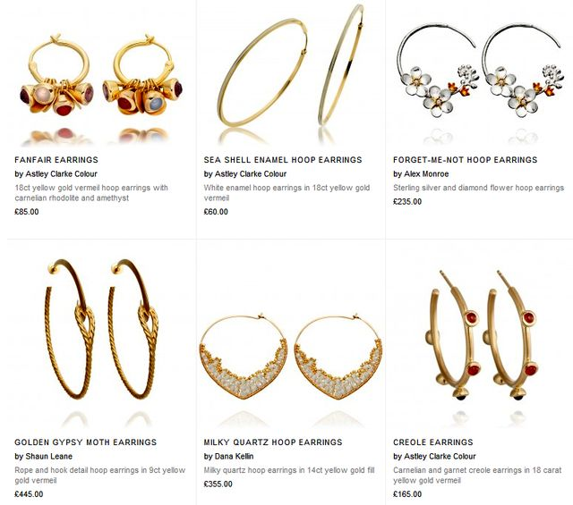 Hoop Earrings Gold at AstleyClarke.Com