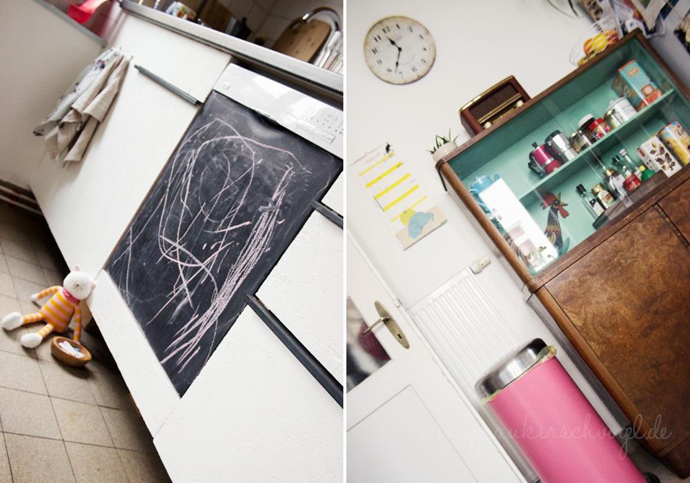 Eine Spülmaschine als Tafel