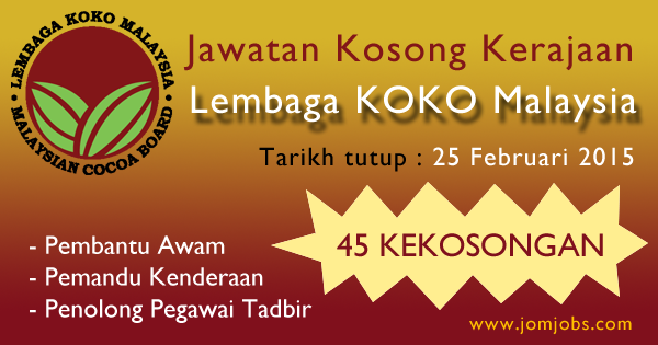 Jawatan Kosong Lembaga KOKO Malaysia 2015 Terkini