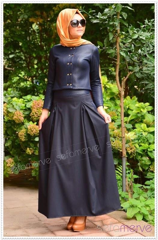 Tubanur'dan Yeni Yıla Özel 9 Tesettür Elbise Modeli