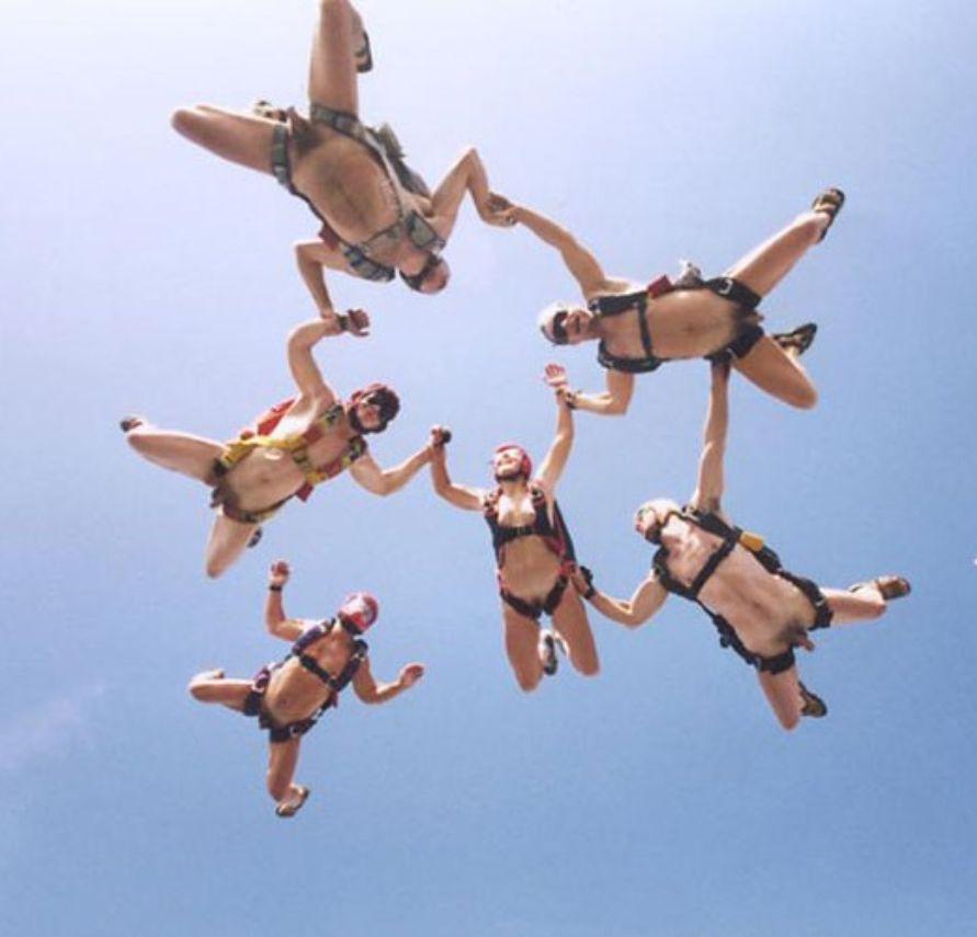 Naked Man Skydiving 67