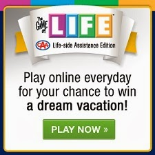 Win 1 of 3 Grand Prize Getaways with THE GAME OF LIFE: CAA Life-side Assistance Edition