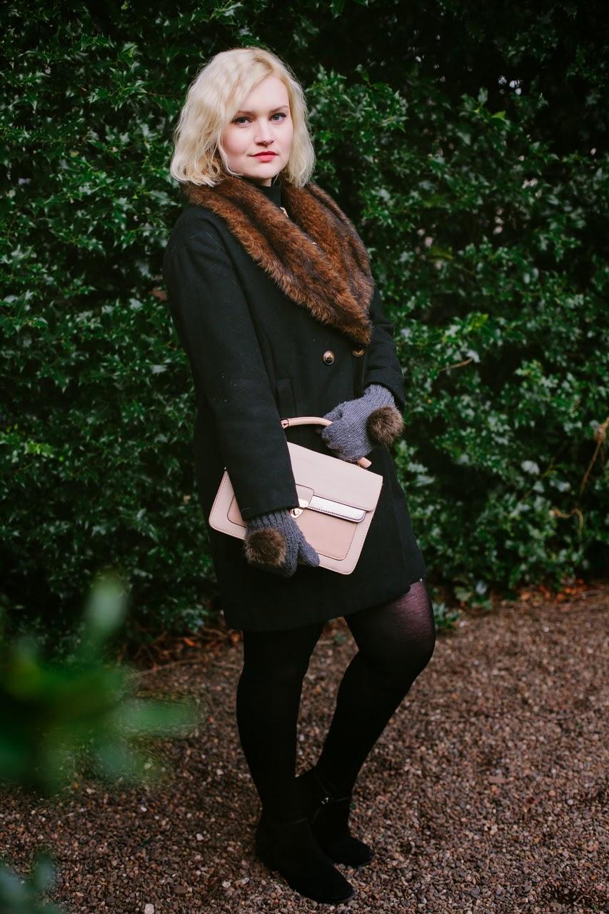 Scottish style, winter, fur, knitwear, Harris Tweed, Edinburgh, H by Henry Holland, fashion, Accessorize, holly